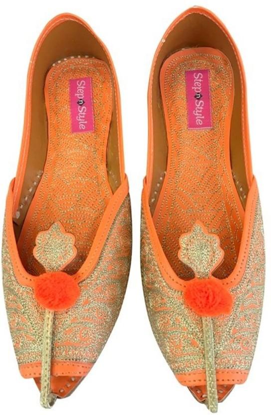 Step n Style Bridal Flats Wedding Shoes Indian Designer Shoes Punjabi Jutti Mojari Juti