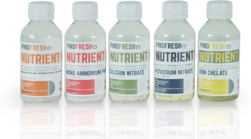 Pindfresh 5 Part Hydroponic Nutrients for all Plants