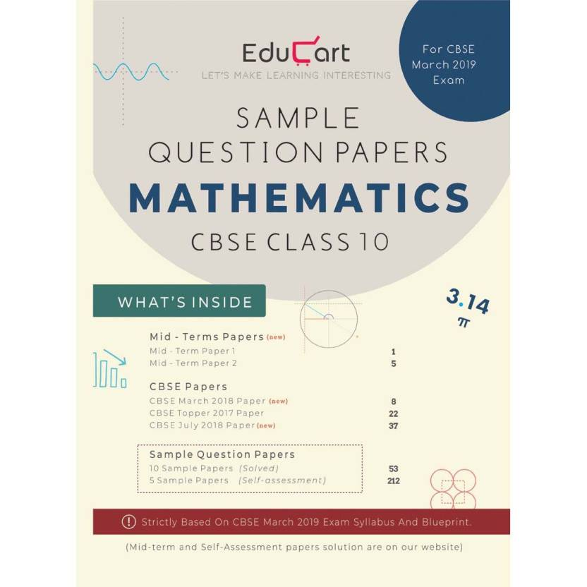 cbse sample question papers class 10 mathematics for march 2019