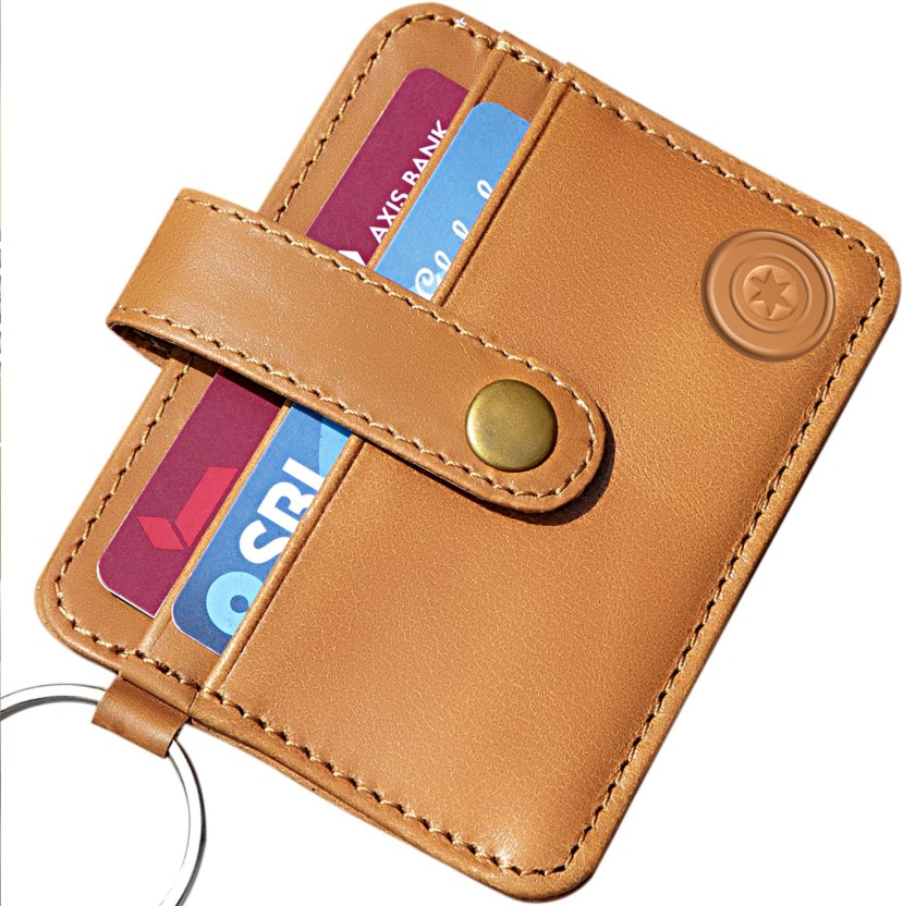 MENS Extra Slim Credit Card ID holder Wallet 1.5 mm Thick Genuine Leather