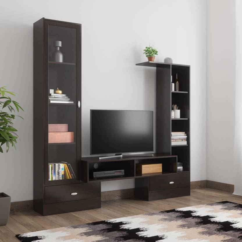 @home by Nilkamal Magneto Engineered Wood TV Entertainment Unit Finish Color   CAPPUCINO