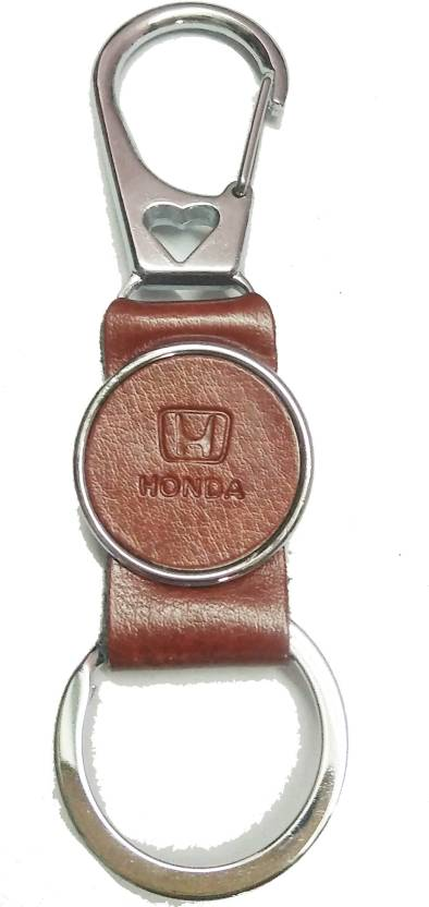 Star Lether Brown Colour Honda Fancy Key Chain Key Chain Price in