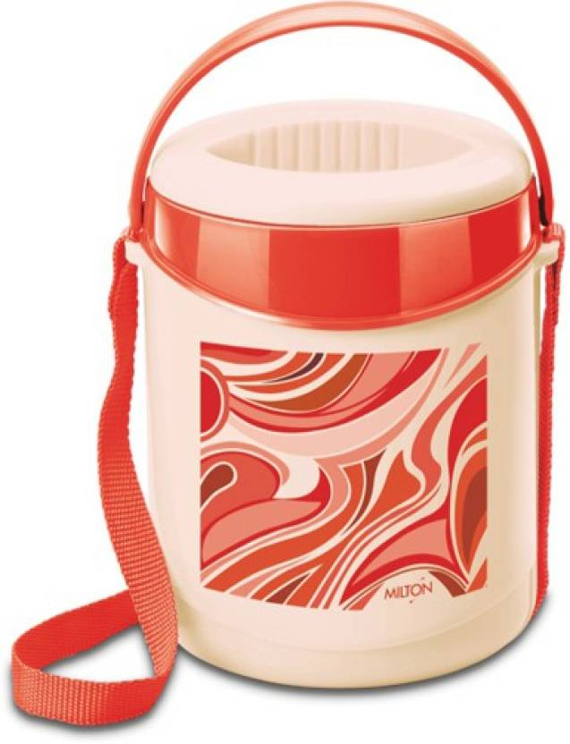 Milton Econa  Dark Red 3 Containers Lunch Box