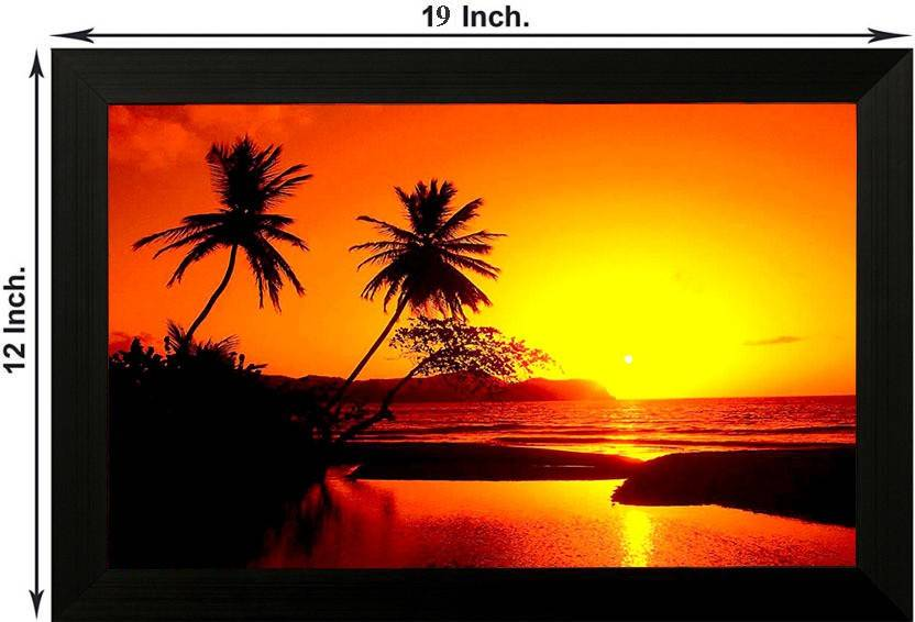 Pintura Nature Designer Painting Designer Painting With Wooden Frame