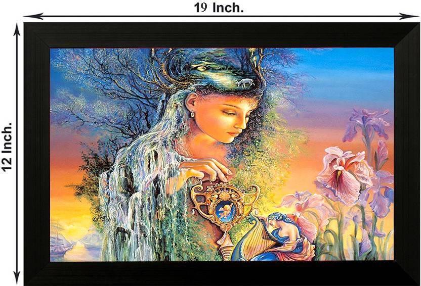 Pintura Nature Princess Designer Painting With Wooden Frame Wall