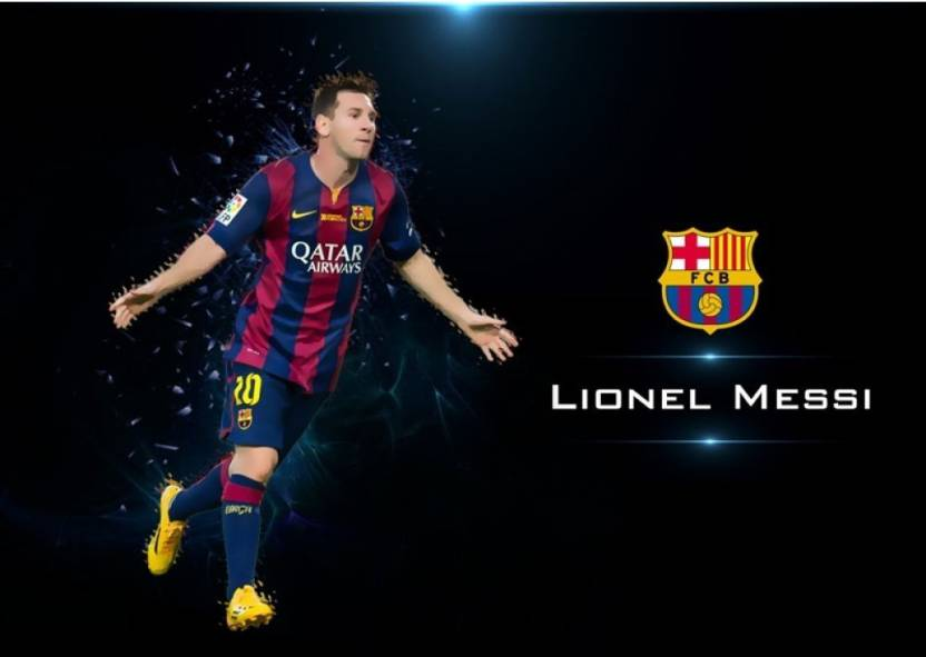 db2dc75f0ab Lionel Messi FC Barcelona Motivational Poster Inspirational for Students,  Footballer, Sportsman, Study Room Photographic Paper (16.5 inch X 11.6  inch, ...