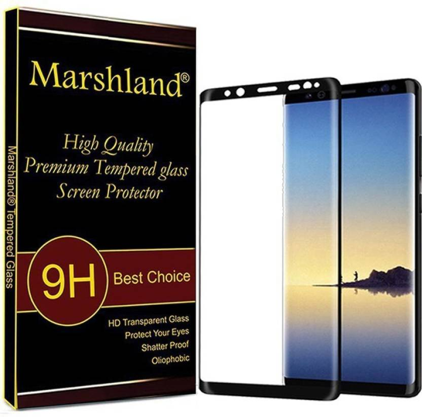 d478ad67274 Marshland Tempered Glass Guard for Samsung Galaxy Note 8 (Black) Full Glue  Curved (Pack of 1)