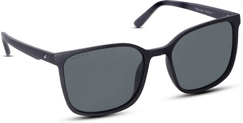 385f1e5fd9a Buy Fastrack Retro Square Sunglasses Green For Men Online   Best ...