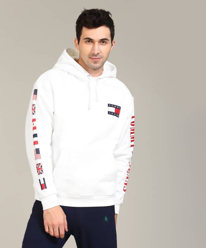 Tommy Hilfiger Full Sleeve Solid Men s Sweatshirt - Buy White Tommy  Hilfiger Full Sleeve Solid Men s Sweatshirt Online at Best Prices in India   33112416f90f