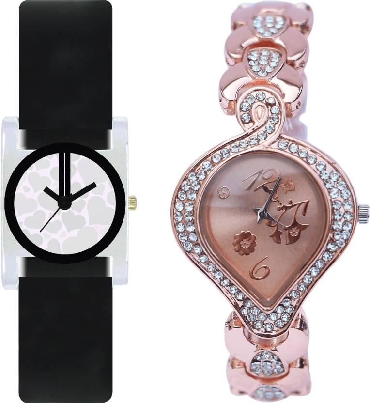 f2c412cced1e NIKOLA Modern Diwali Flower Black And Rose Gold Color Combo Watch  (GV6-G230) For Girls And Women Watch - For Women - Buy NIKOLA Modern Diwali  Flower Black ...