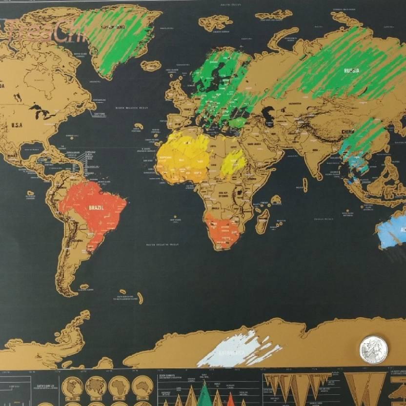 General World Map.Traveltubes Scratch Map Travel Map Witffh Scratch Of Layer Visuals