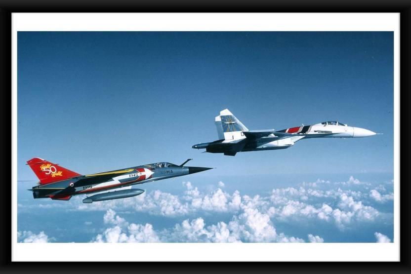Online Center Aircraft Aircrafts Sukhoi Su-27 Fine Art Paper