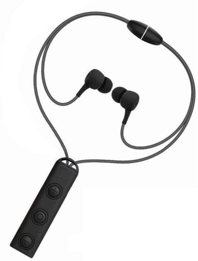 8496539330a HilGar Bluetooth Magnetic Headphones V25 Best Wireless Sports Bluetooth  Headset with Mic (Black, In the Ear)