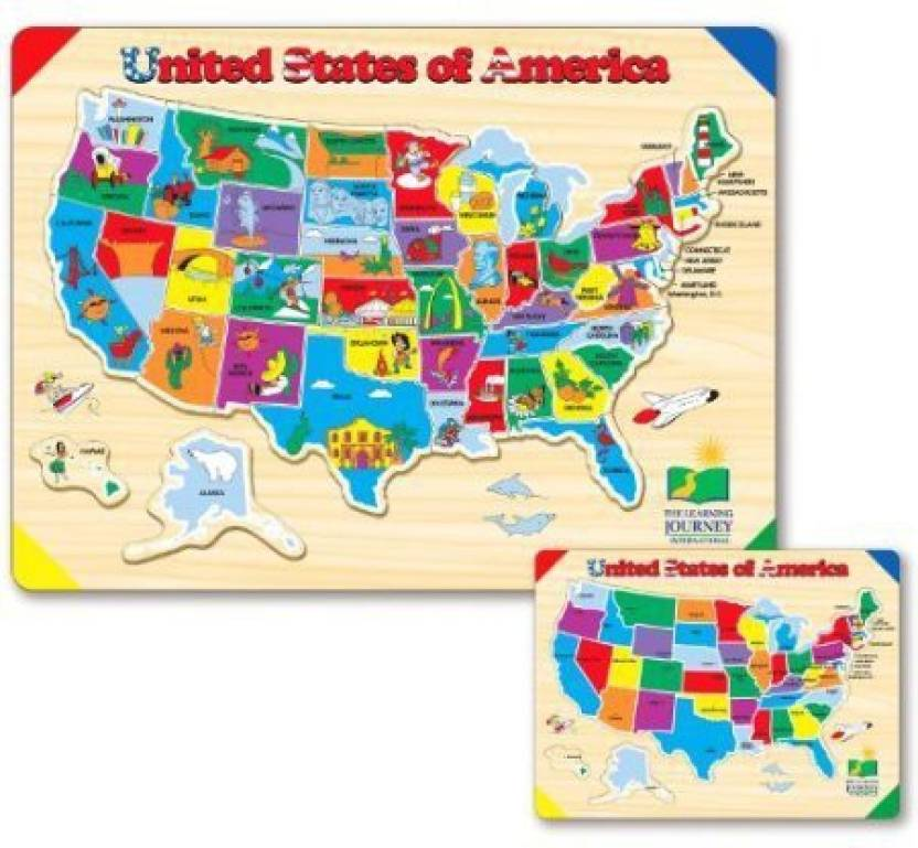 Ruksikhao The Learning Journey Lift and Learn USA Map Puzzle ...