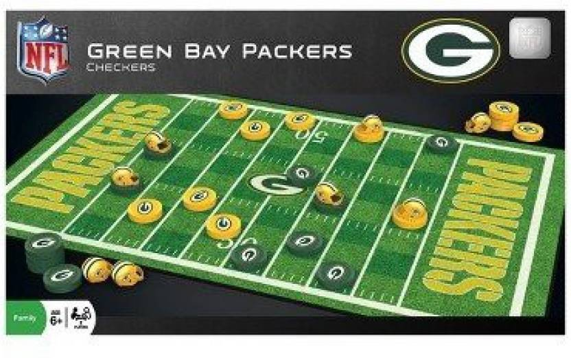 2e79ab93d03 Masterpieces Puzzles NFL Checkers Game - Green Bay Packers - Puzzles ...