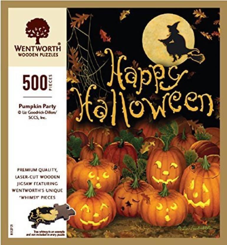 Wentworth Happy Halloween Wooden 500 Piece Jigsaw Puzzle Happy