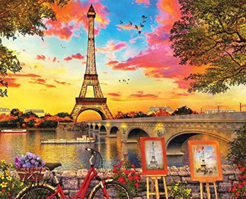 Springbok Puzzles - Paris Sunset - 1000 Piece Jigsaw Puzzle