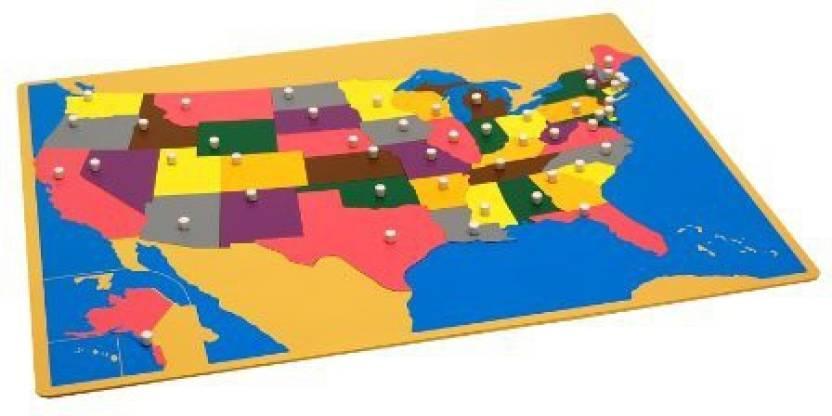 Kid Advance Montessori Usa Puzzle Map W Control Maps Montessori