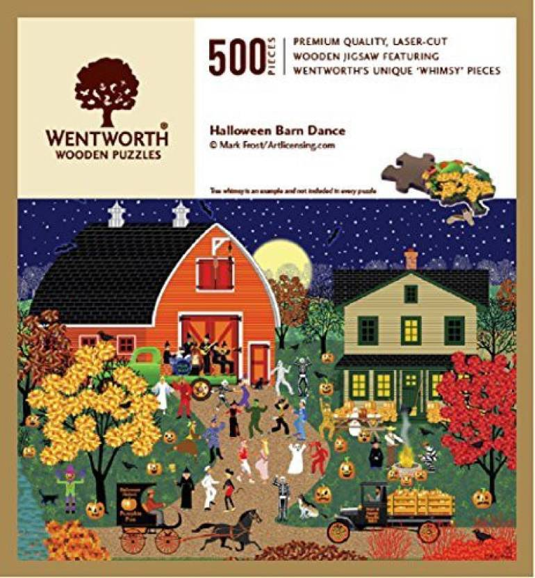 Wentworth Halloween Barn Dance Wooden 500 Piece Jigsaw Puzzle