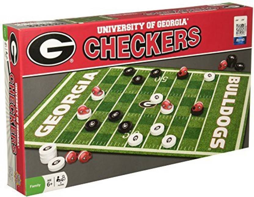Masterpieces Collegiate Georgia Checkers Game - Collegiate Georgia ... 717d971bcb42