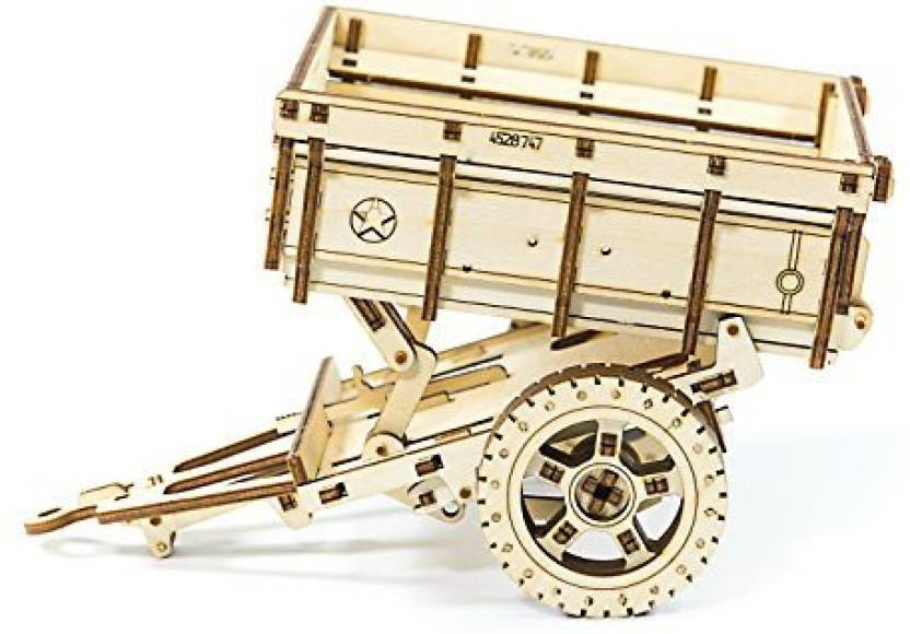 WOODEN CITY Trailer Addition for 4x4 Army Jeep 3D Mechanical