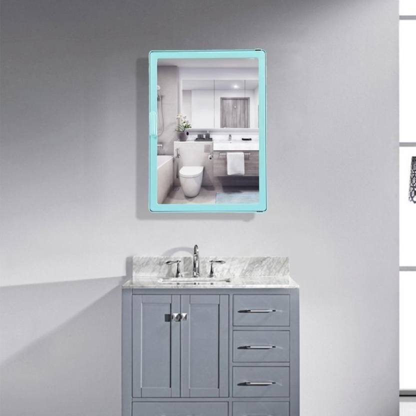 RAJ GLASS WORKS Bathroom Mirror Cabinet (Sliding) Plastic Mirror Storage Chest (Size : ADD TO CART