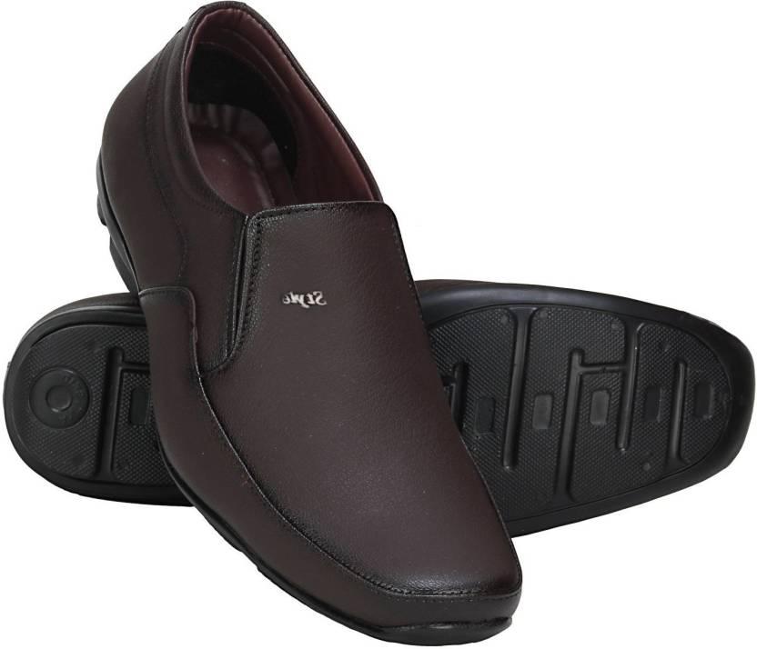 Zixer Office Shoes Slip On For Men Buy Brown Color Zixer Office