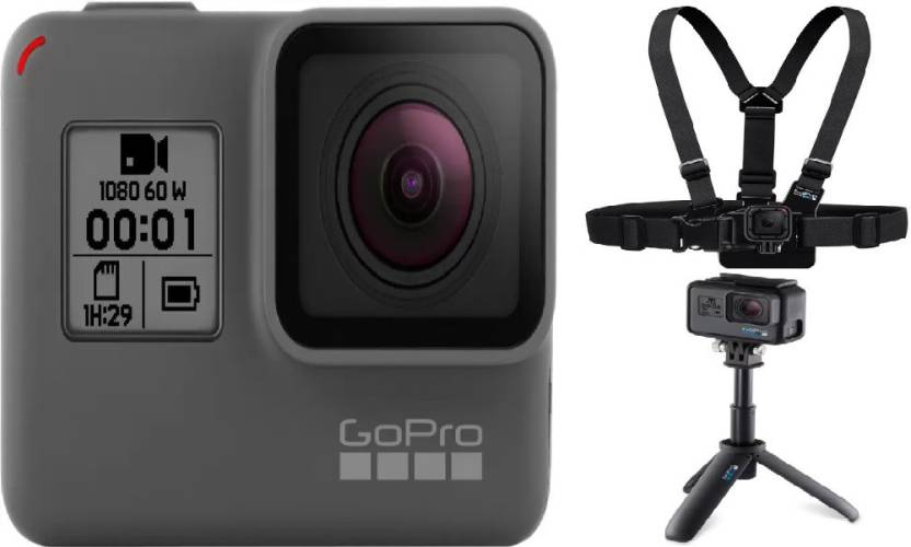 GoPro Hero (with Shorty & Chesty) Sports and Action Camera (Black 10 MP)
