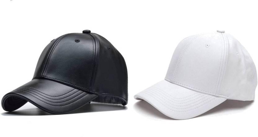 0df8e009cb2 Babji Combo Classic Black And White Leather Cap Cap - Buy Babji ...