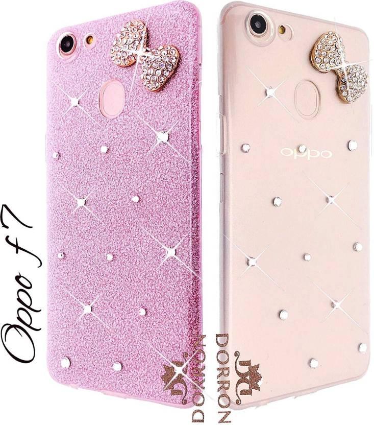 buy popular af27d 2d25b DORRON Back Cover for OPPO F7 Bowknot Shiny Stylish Designer Glitter ...