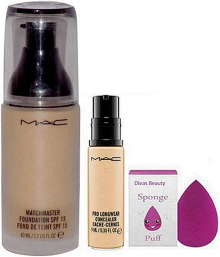 mac pro longwear foundation beauty blender