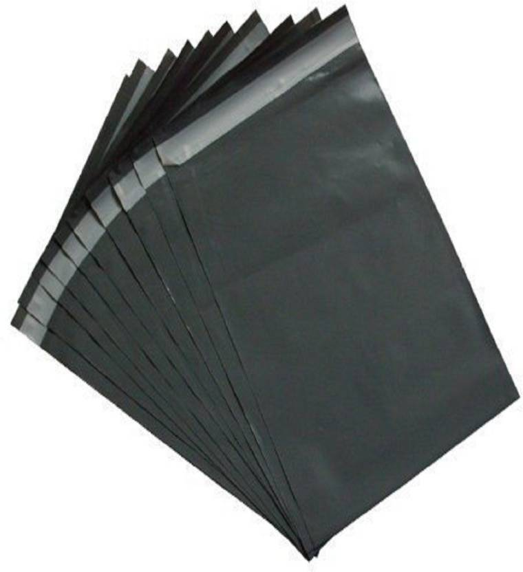 TOTAL HOME Courier Bags 100 Mailing postal bags GREY 17 x 24 inch (425x600)  plastic polythene Packing Poly Bags (Black) 4501a153707e8