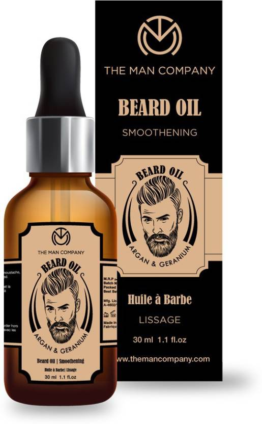 The Man Company Smoothening Beard Oil -Argan & Geranium Hair Oil
