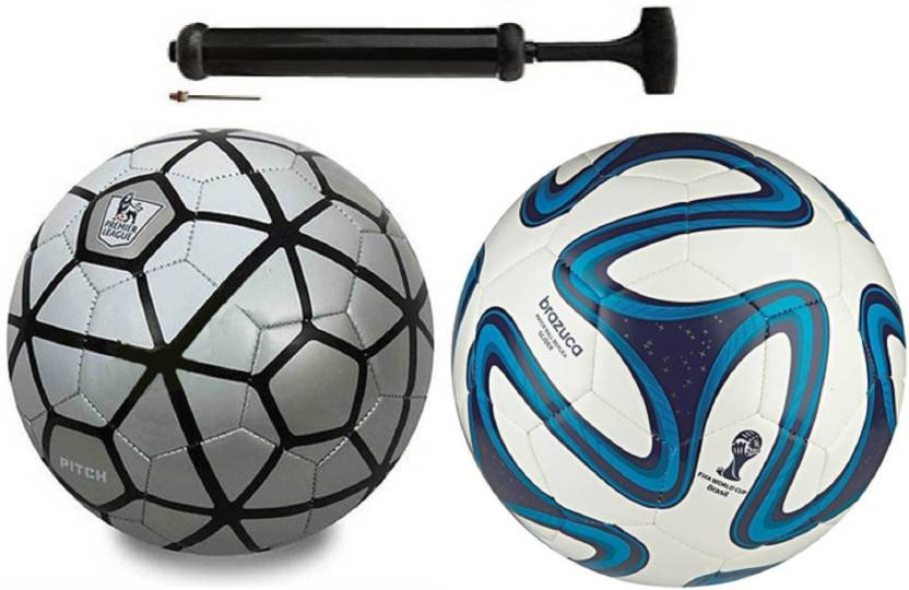 Alen Luxury Silver Black + Bazuca Blue Football Combo With Durable Air Pump  Football Kit - Buy Alen Luxury Silver Black + Bazuca Blue Football Combo  With ... 55eb8afcf
