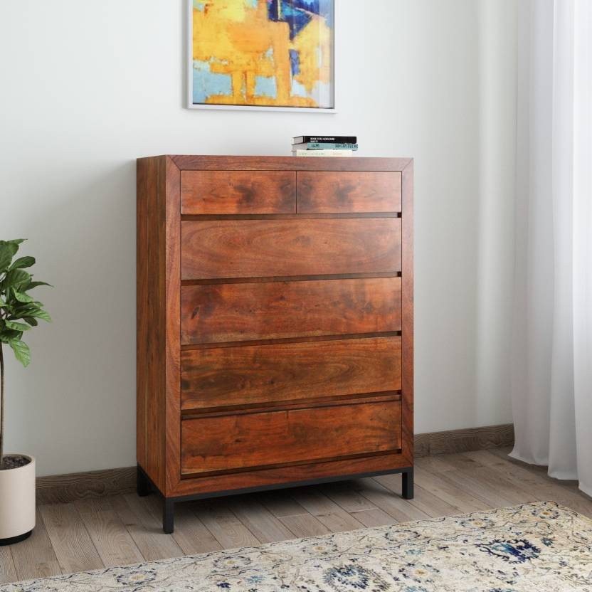 2c9d65a5a1f Induscraft INBCD2 Solid Wood Free Standing Chest of Drawers (Finish Color -  Brown)