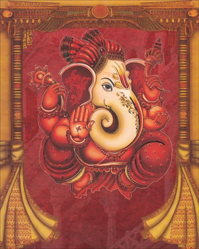 Lovely Maroon Ganesh Wedding Card Set Of 50 Cards