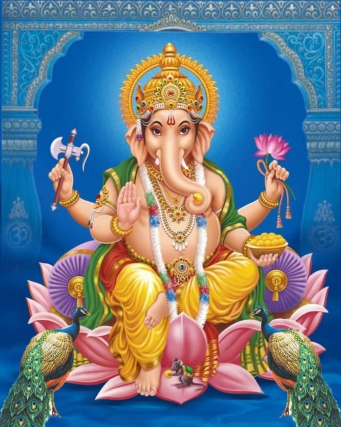 Lovely Wedding Card Mangal Murti Lord Ganesha Set Of 50