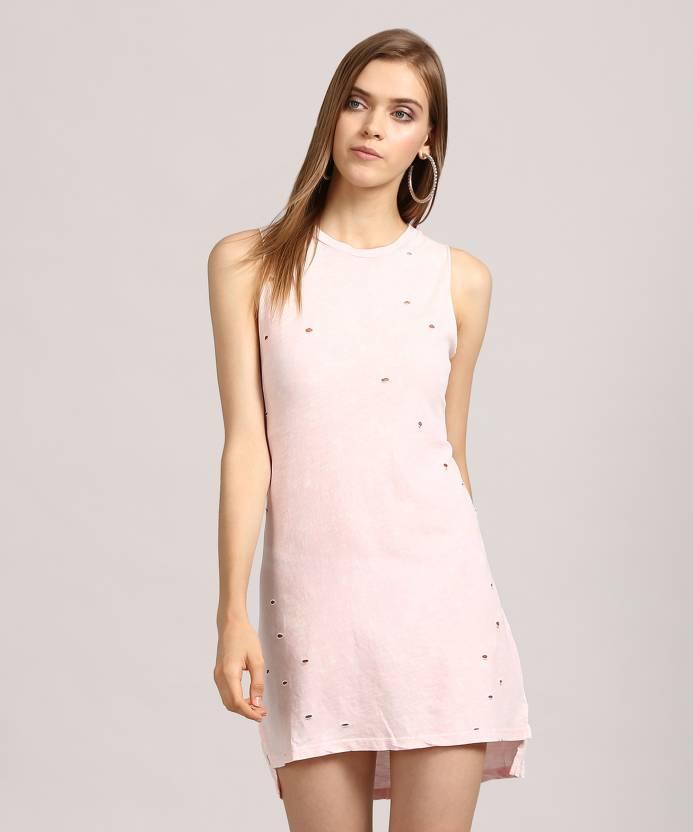 1d0a6e704cb Forever 21 Women s Shift Pink Dress - Buy PINK Forever 21 Women s ...