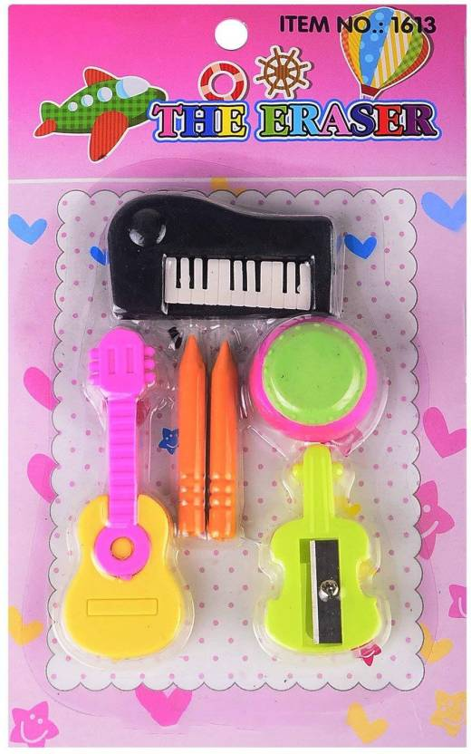 Prime Musical Eraser Pack Return Gift Party Idea For Kids Birthday Erasers Multicolor