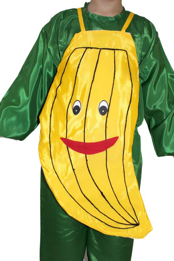 Kaku Fancy Dresses Banana Cutout With Cap For Kids Kids Costume Wear