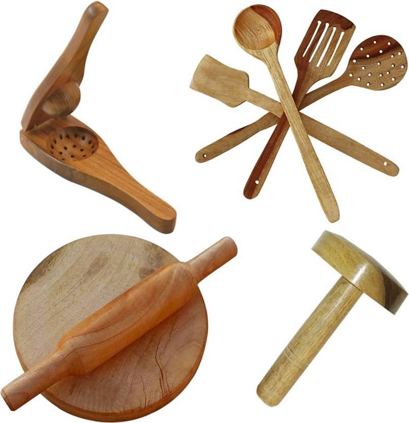 qubift kitchen items combo pack new latest premium wooden kitchn
