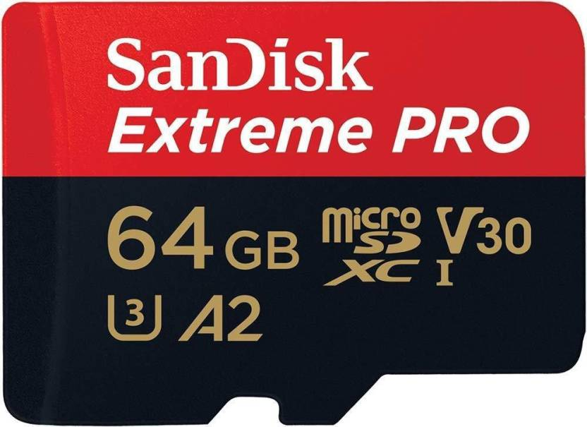 SanDisk EXTREME PRO A2 64 GB MicroSDXC Class 10 170 MB S Memory Card