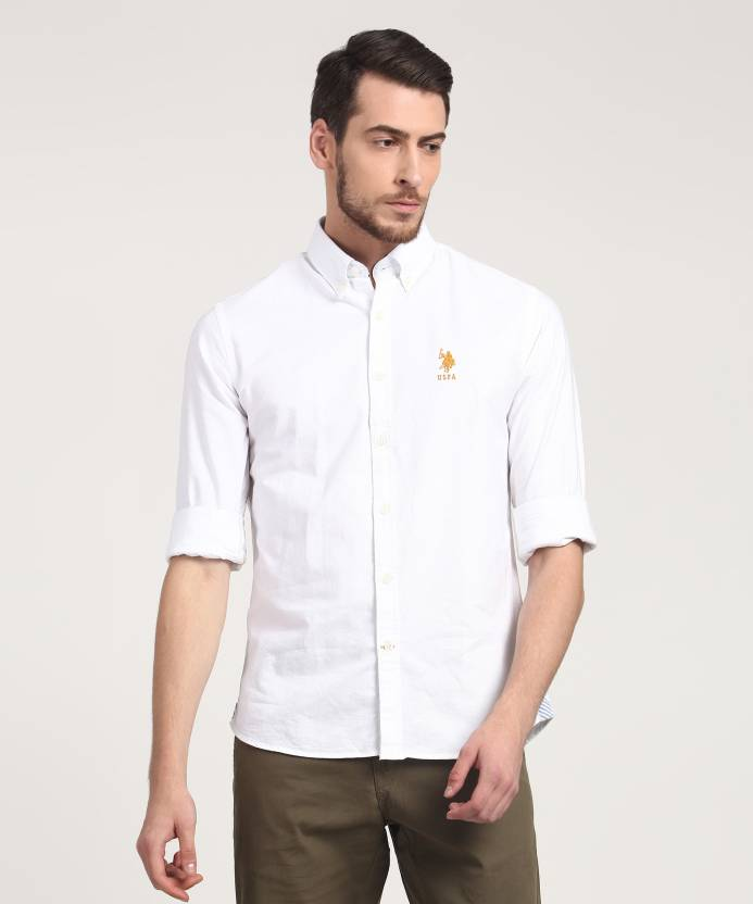 7372ff73 U.S. Polo Assn Men's Solid Casual White Shirt - Buy U.S. Polo Assn Men's  Solid Casual White Shirt Online at Best Prices in India | Flipkart.com
