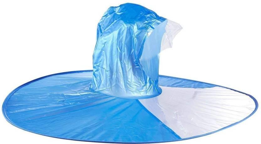 671fcc1f8e1c7 Prime Hat Umbrella for Raining Fun Raincoat Cloth Cap Umbrella Automatic  Folding