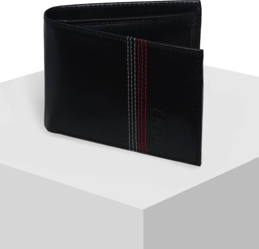 ef0fe5e604272 Ducati Men Black Genuine Leather Wallet Black - Price in India ...