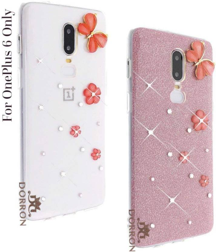 finest selection 127ab 4c439 DORRON Back Cover for OnePlus 6 / 1+6 Glitter Bling Stylish Designer ...