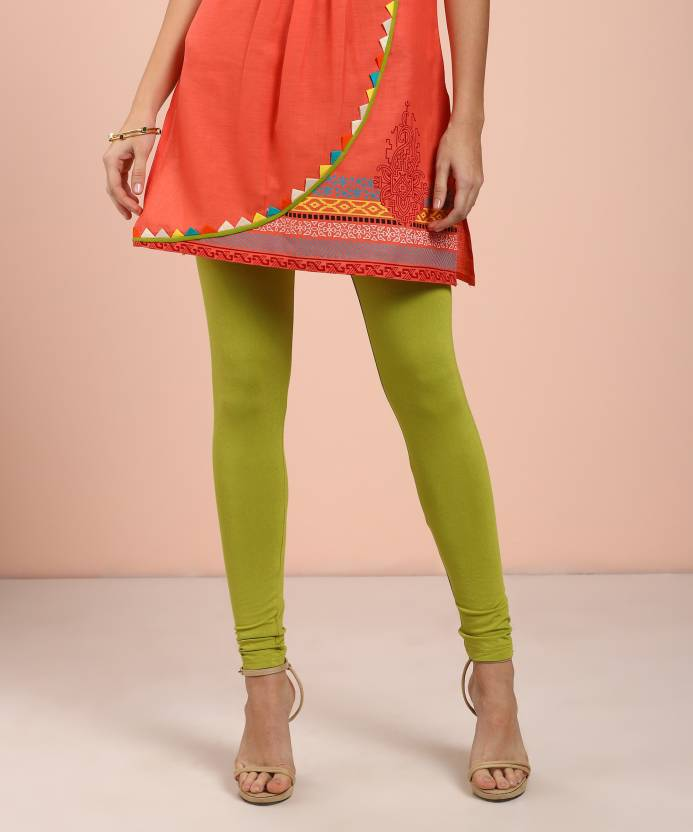 6dca0b599fdab Global Desi Women Green Leggings - Buy Global Desi Women Green ...