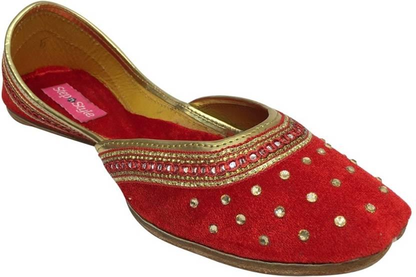 6f41bdb06c62 Step N Style Punjabi Jutti Flat Shoes Wedding Shoes Khussa Shoes Indian  Shoes Juti Jutis For