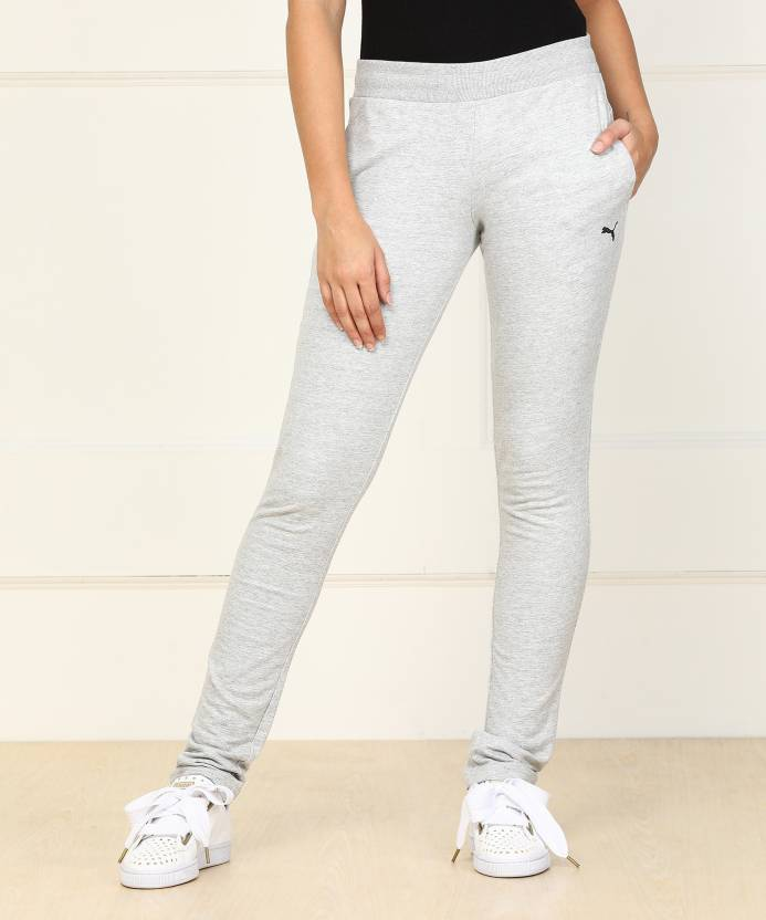 46c69a57d7b8 Puma Solid Women Grey Track Pants - Buy Grey Puma Solid Women Grey Track  Pants Online at Best Prices in India