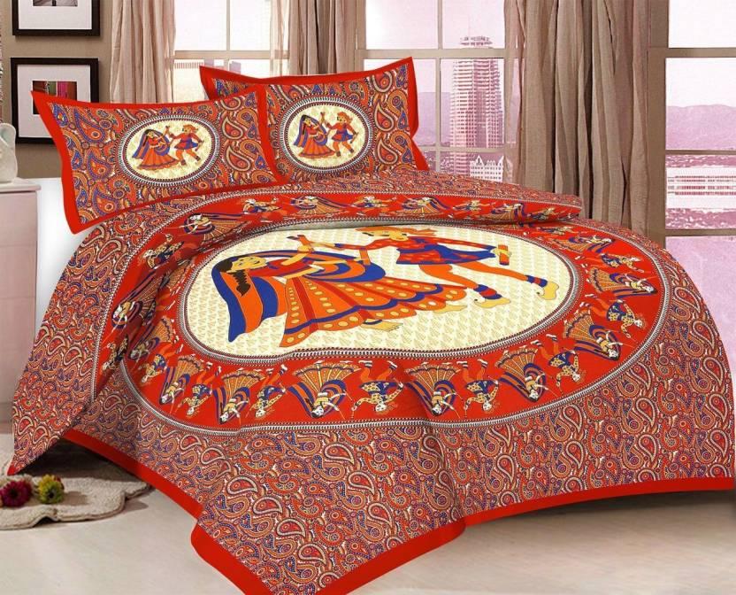 0b857a4b1f Desi Kapda 120 TC Cotton Double Printed Bedsheet - Buy Desi Kapda ...